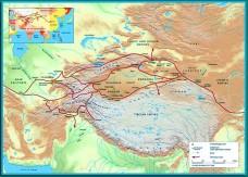 Silk Road trade routes, early Islamic era